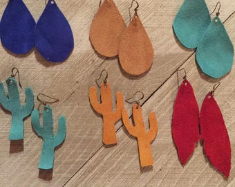 Suede Leather Earrings
