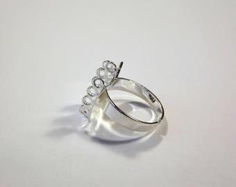 5 x silver charm ring