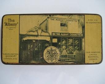 The Albany Size No 2 cigarette tin (50/empty) by F.L.Smith c.1915
