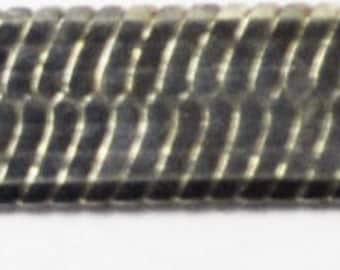 "Beautiful Sterling Silver 6mm Herringbone 16"" Necklace Great Shape 925"