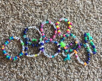 10 kandi bracelets