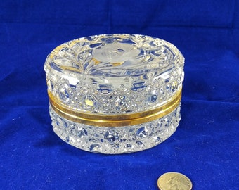 Vintage French Crystal Casket/Trinket Box