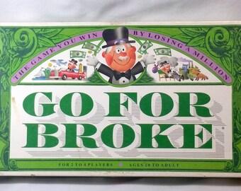 Go For Broke Vintage 1992 Board Game Western Publishing Company 100% Complete