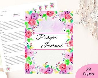 Christian journal/ printable prayer journal/ Bible journaling kit/ devotional journal/ prayer planner/ faith journal/ prayer journal pages