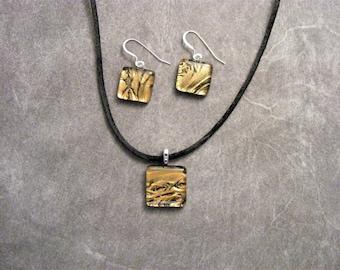 Bronze Ferns Petite Pendant Set