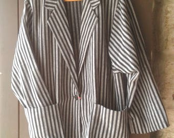 Grey and black stripes jacket T.42