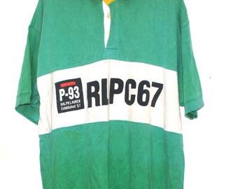 Vintage Polo Ralph Lauren RLPC67 Rugby T Shirt Stadium PWing 93 Snow Beach 1992