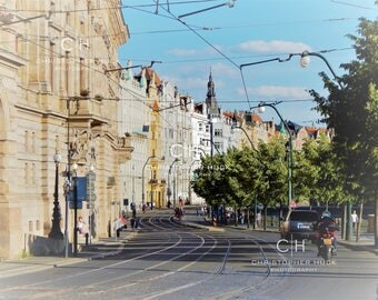 Prague Street, Photography Print, Prague Photo, Europe, Wall Art, Czech Republic