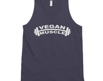 Vegan Muscle Tee, Vegan Muscle Tank, Vegan Unisex Tank, Workout Tank