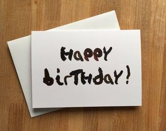 Turd Text -Happy Birthday!-