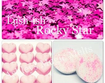 3 rockstar lush wax melts, designer dupe melts, perfume melts, sweet wax melts, cheap melts, highly scented wax melts, wax melt tarts