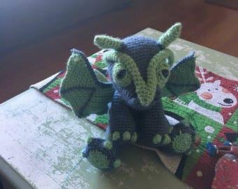 Happy crochet dragon