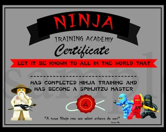 Instant dl ninjago training certificate ninjago ninjago instant dl ninjago training certificate ninjago birthday party printable not personalized yadclub Choice Image