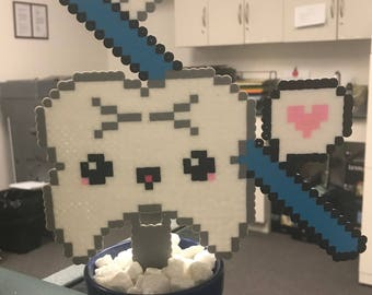 Dentist Toothbrush Plant Perler Bead Pixel Art