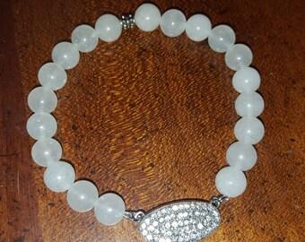 Clear Quartz Bracelet Beaded 8 mm crystal bracelet