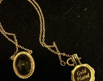 Gold plated mood necklace