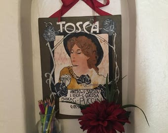 Commemorative Tosca opera painting