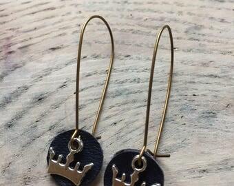 Crown earrings / gift idea