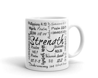 Strength Mug with Scriptures relating to Strength