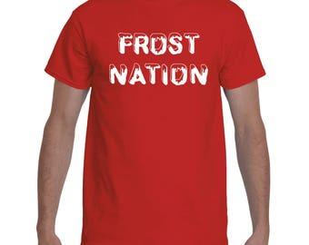 Frost Nation Frost Football Nebraska Football Huskers Scott Frost T-Shirt New Era Red and White Go Big Red Husker Power GBR Cornhuskers