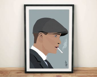 Thomas Shelby / Cillian Murphy / Peaky Blinders • A3 Print • Wall Art Home Decor Poster Illustration