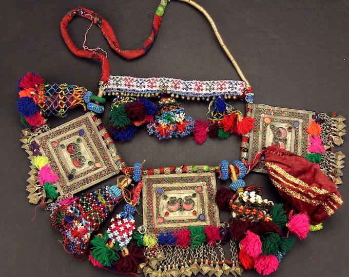 Afghan Tribal BELT Bellydance Dangles Turkoman 868h6