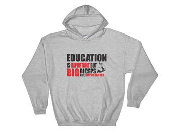 Gym and Fitness Themed Hooded Sweatshirt