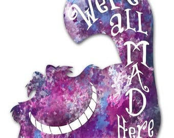 Happy Unbirthday Card - Purple Cheshire Cat