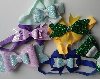 Custom made bows and headbands