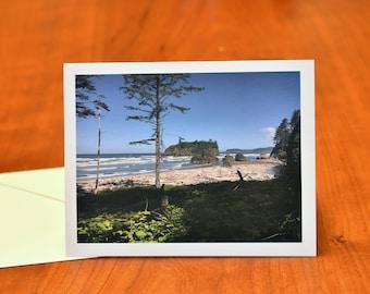 Ocean Greeting Card, Olympic National Park Ruby Beach Kalaloch Washington Card, Blank Stationery Card, Landscape Card Fine Art Print