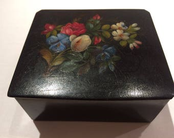 """Palekh Russian Lacquer Box """"Forest Flowers"""""""