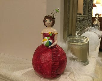 "Doll ""girl with ball."