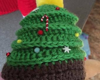 Newborn Christmas Tree Hat