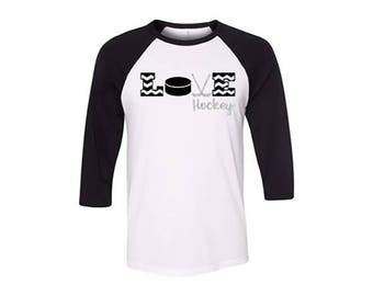 Love Hockey Raglan Tee