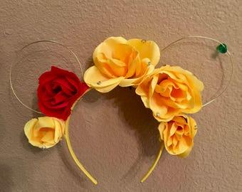 Beauty and the Beast Flower Ears