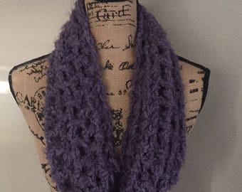 Purple infinity scarf / Infinity Scarf / Purple Scarf / Soft Scarf / Gift for Mom / Gift for Woman / Mother's Day Gift / Handmade Gift /