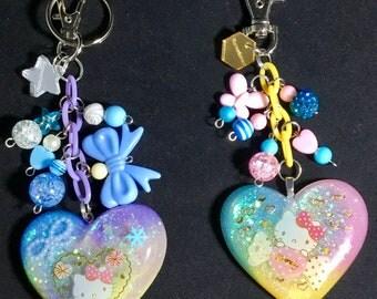 Hello kitty resin keychain/purse charm