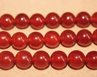 15 inches Full strand,Grade A red agate smooth round beads 6mm 8mm 10mm 12mm,loose beads,semi-precious stone