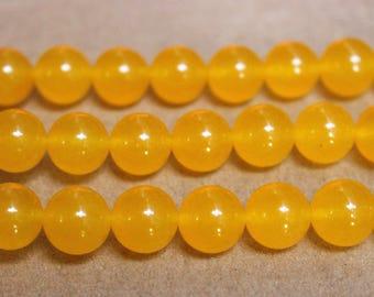 15 Inches Full strand,5 Strand Yellow Malaysian Jade round beads  6mm 8mm 10mm 12mm 14mm beads,loose beads,semi-precious stone