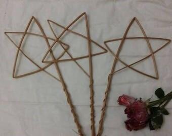 Handmade willow stars