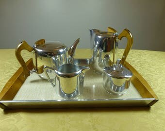 Picquot Ware  (Newmaid) Tea Set including Tray