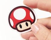 Small Mushroom Mario Sticker