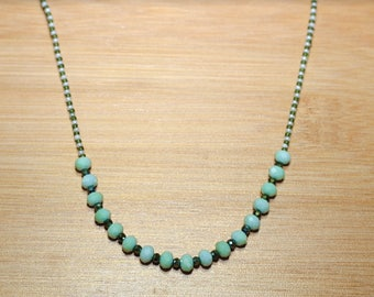 Blue/green beaded necklace