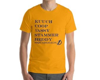 Kucherov, Cooper, Vasilevsky, Stamkos, Hedman Tampa Bay Lightning Hockey Short-Sleeve mens T-Shirt