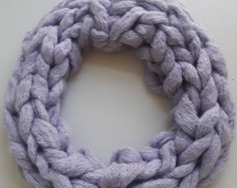 Kids closed lavender scarf