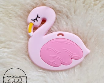 Flamingo Teether | Silicone | Sensory | Teething | Baby | Pink | Swan