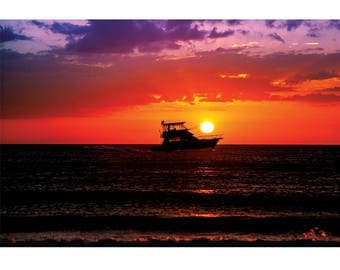 Landscape Photography - Ace of Spades, Nature Photography, Sunset, Clearwater Beach, Florida, Prints, Canvas