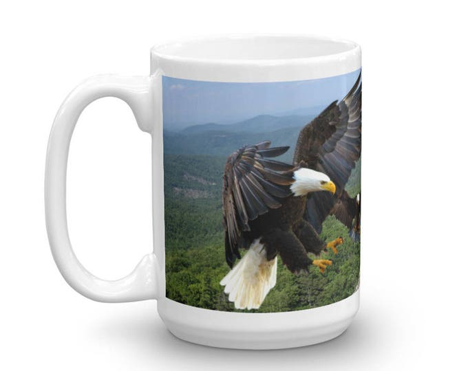American Eagles Mug, Eagles in Flight Cup, Eagle Design Coffee Mug, Wildlife Java Jug, Perfect Gift for Animal Lovers, Great Gift Ideas