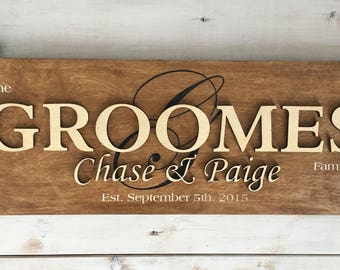 Custom - Groomes family sign