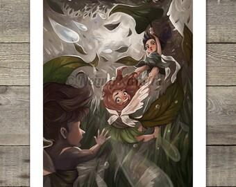 8.5x11 print, An Unlucky Day for Fairies